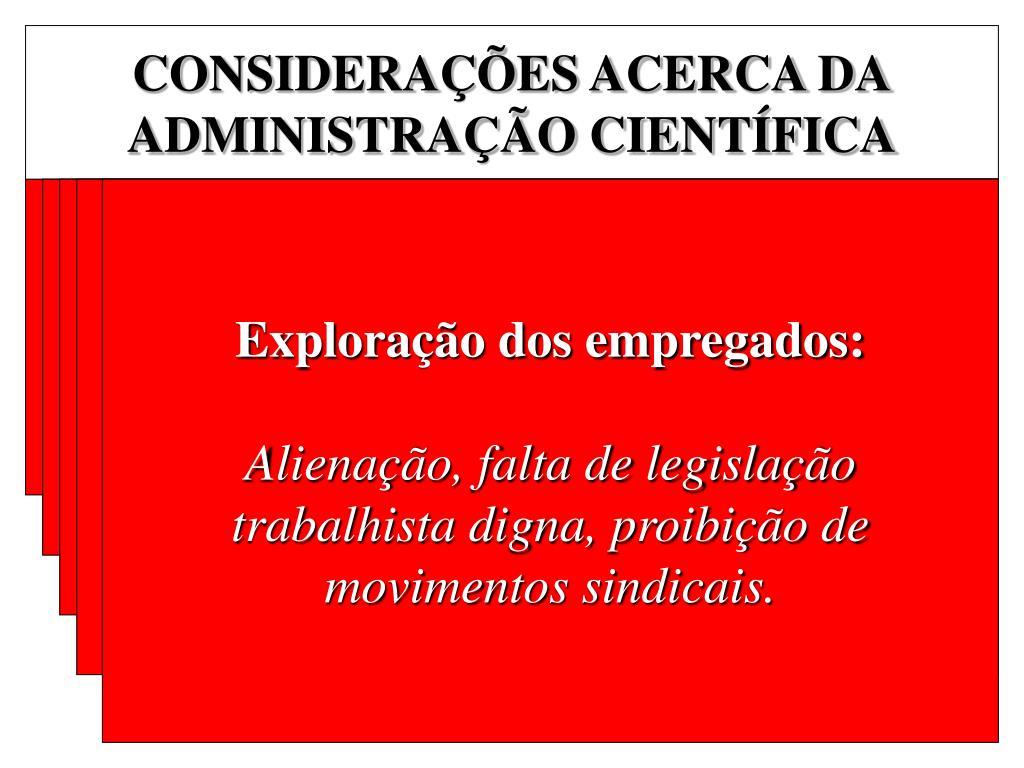 CONSIDERAÇÕES ACERCA DA