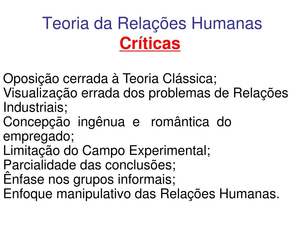 Teoria da Relações Humanas