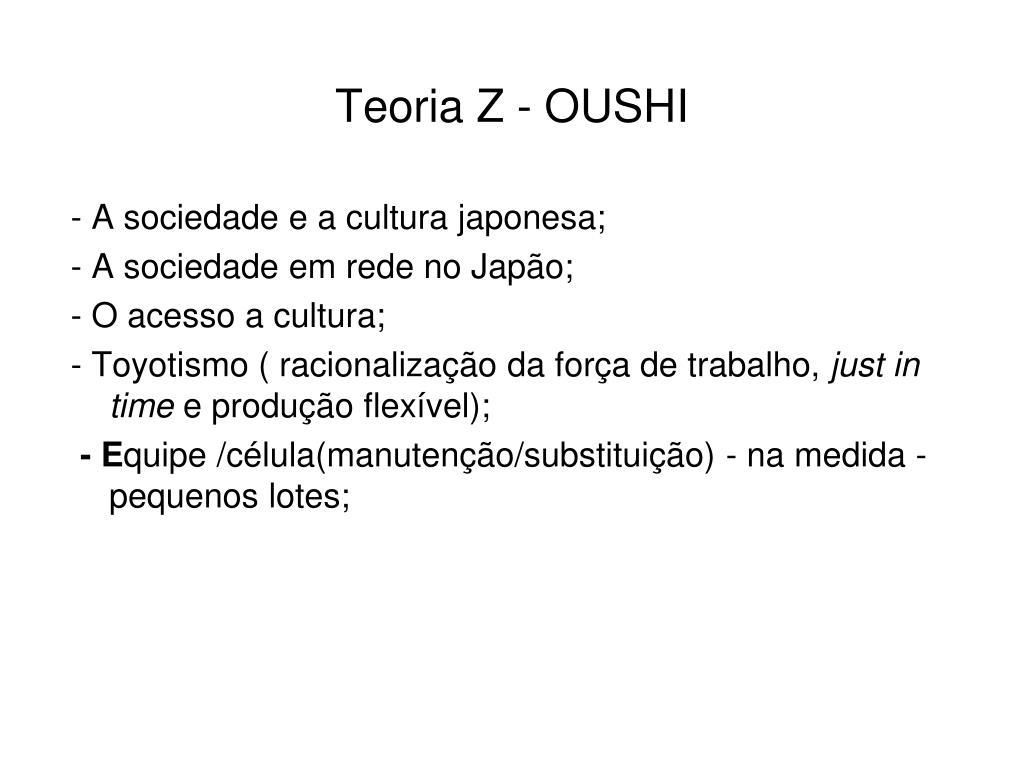 Teoria Z - OUSHI
