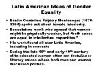 latin american ideas of gender equality