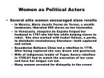 women as political actors
