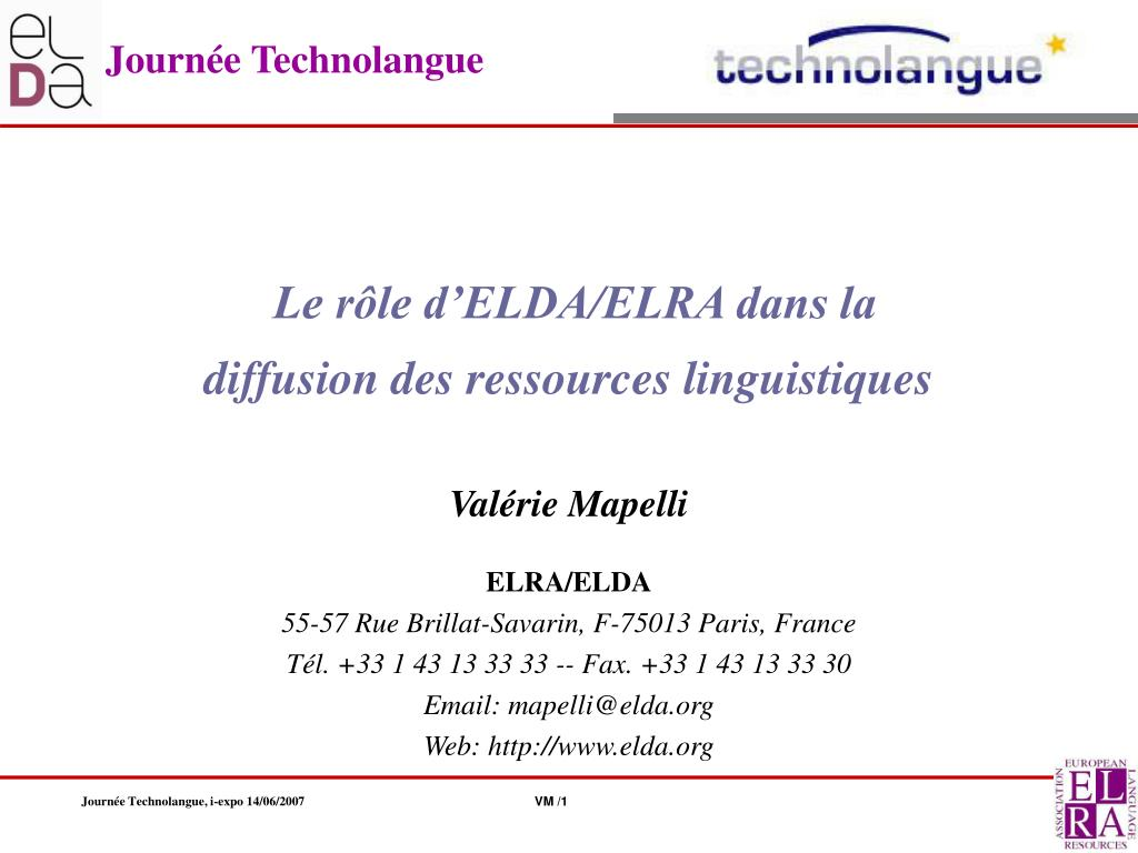 journ e technolangue l.