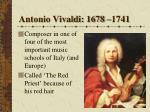 antonio vivaldi 1678 1741