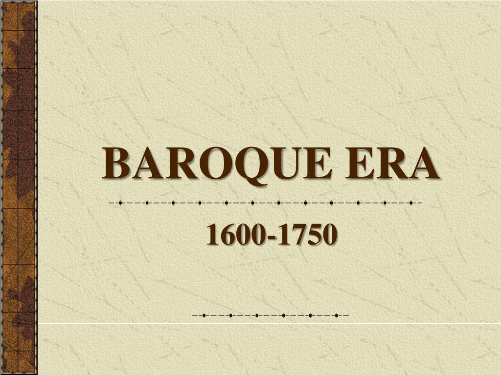 baroque era l.