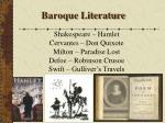 baroque literature