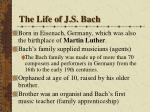 the life of j s bach