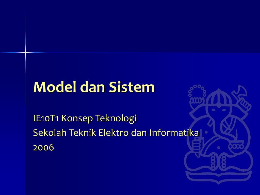model dan sistem l.