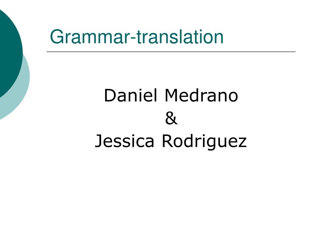 grammar translation l.