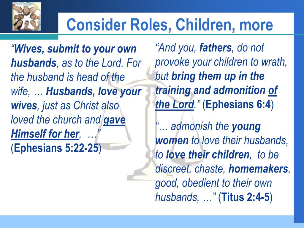 Consider Roles, Children, more