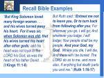 recall bible examples
