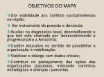 objetivos do mapa