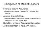 emergence of market leaders