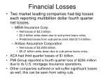 financial losses