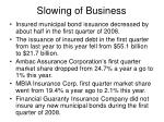 slowing of business
