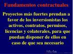 fundamentos contractuales
