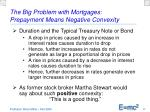 the big problem with mortgages prepayment means negative convexity