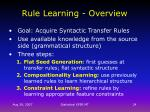rule learning overview