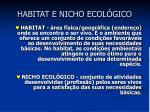habitat e nicho ecol gico