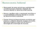 macroeconomia ambiental