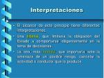 interpretaciones