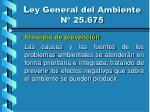 l ey general del ambiente n 25 67515
