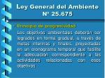 l ey general del ambiente n 25 67518