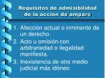 requisitos de admisibilidad de la acci n de amparo