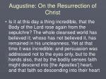 augustine on the resurrection of christ