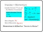 impulse momentum