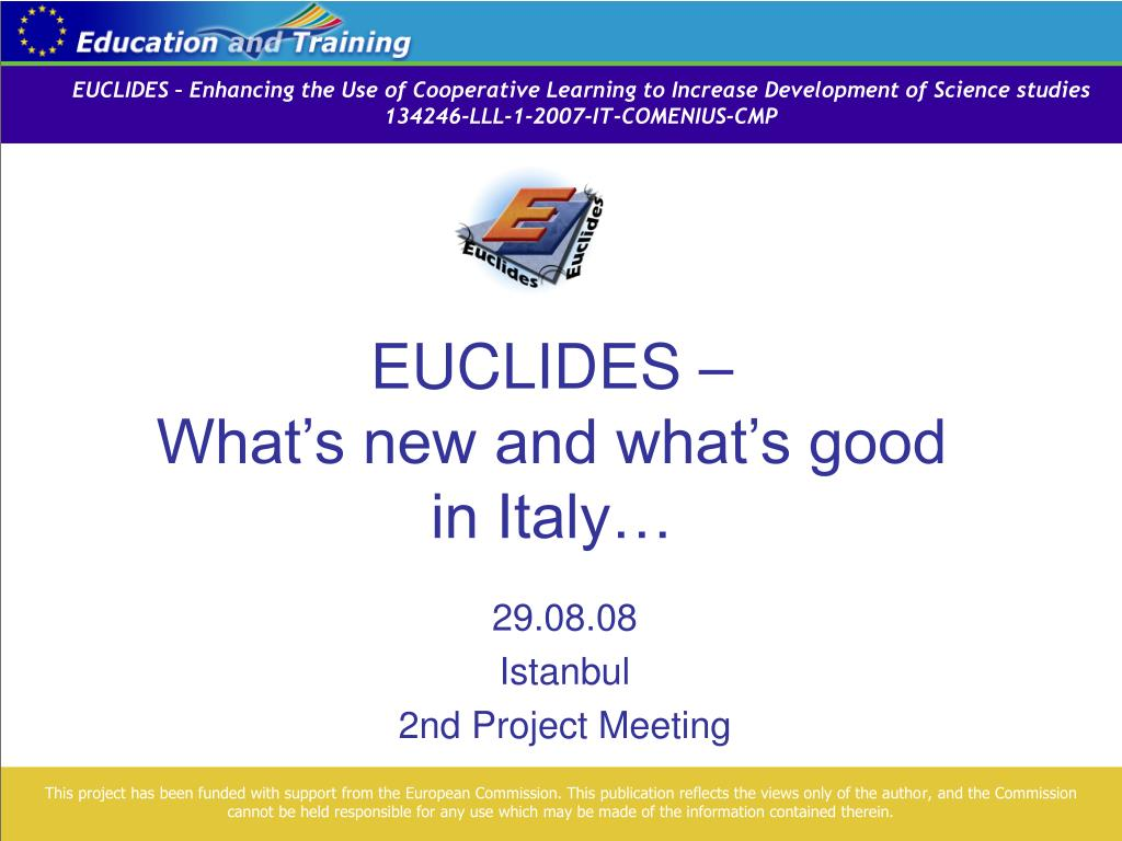 euclides what s new and what s good in italy l.