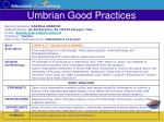 umbrian good practices