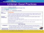 umbrian good practices34