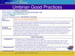 umbrian good practices35