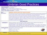 umbrian good practices36