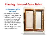 creating library of gram stains