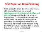 first paper on gram staining
