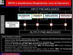 bpco e insufficienza respiratoria aree di intervento