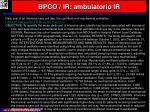 bpco ir ambulatorio ir39