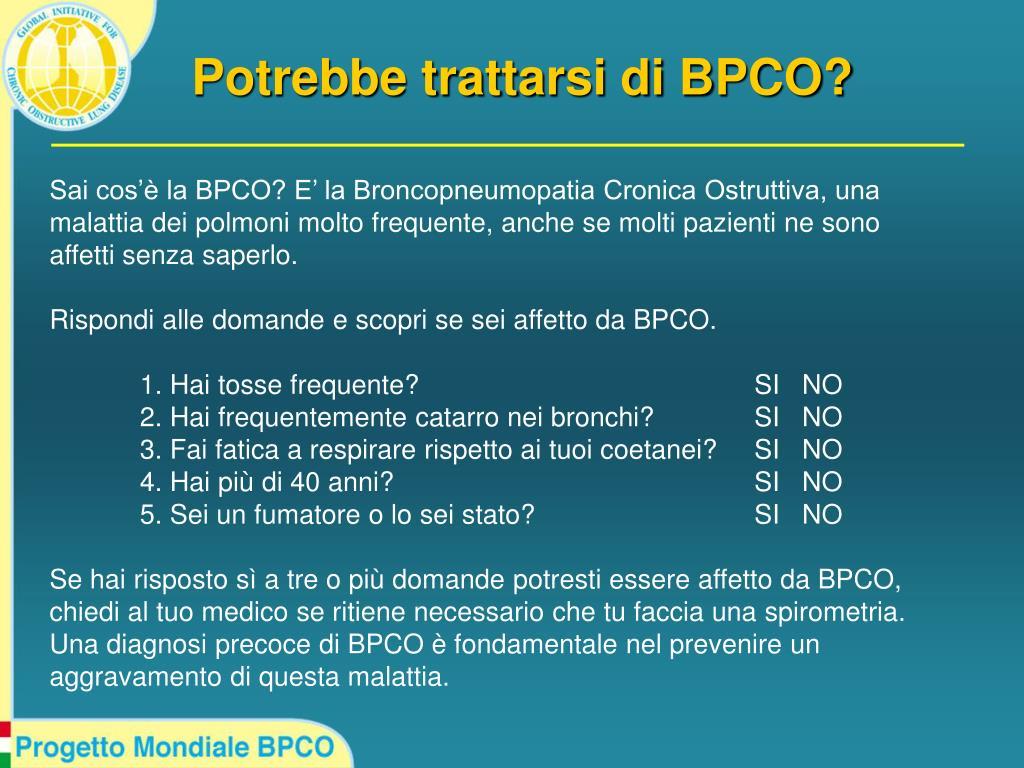 Potrebbe trattarsi di BPCO?