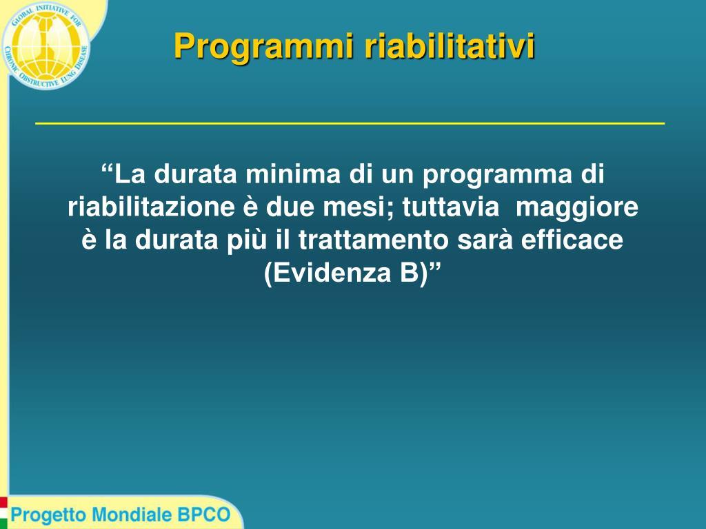 Programmi riabilitativi