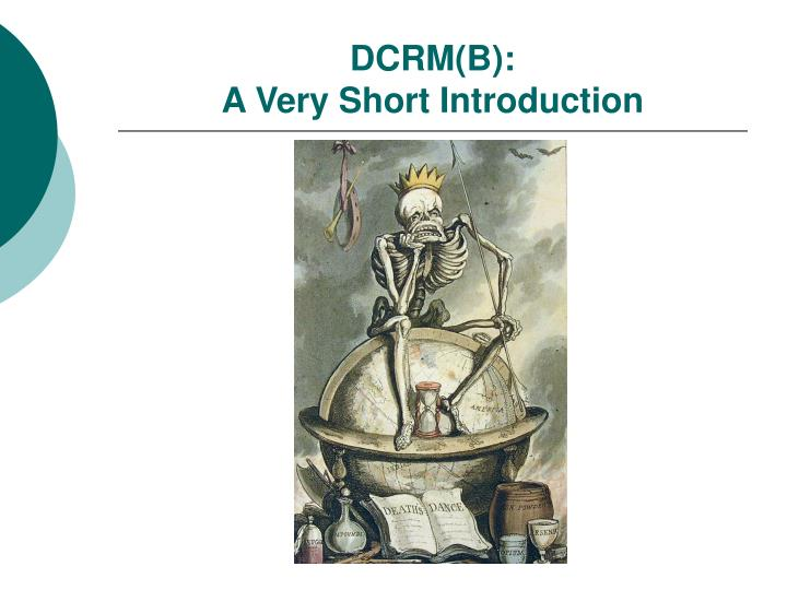 dcrm b a very short introduction n.