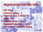 brookhaven lab fire dept