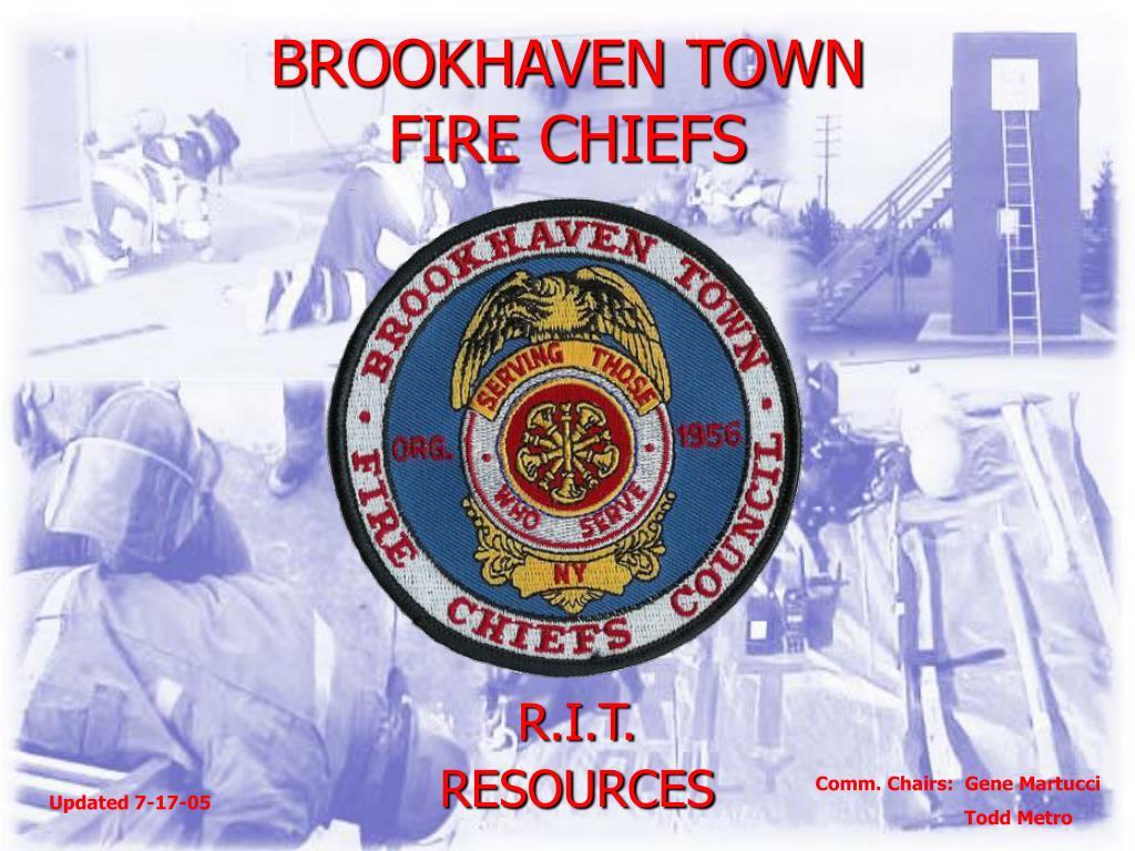 brookhaven town fire chiefs l.