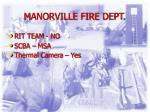 manorville fire dept