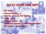rocky point fire dept