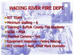 wading river fire dept