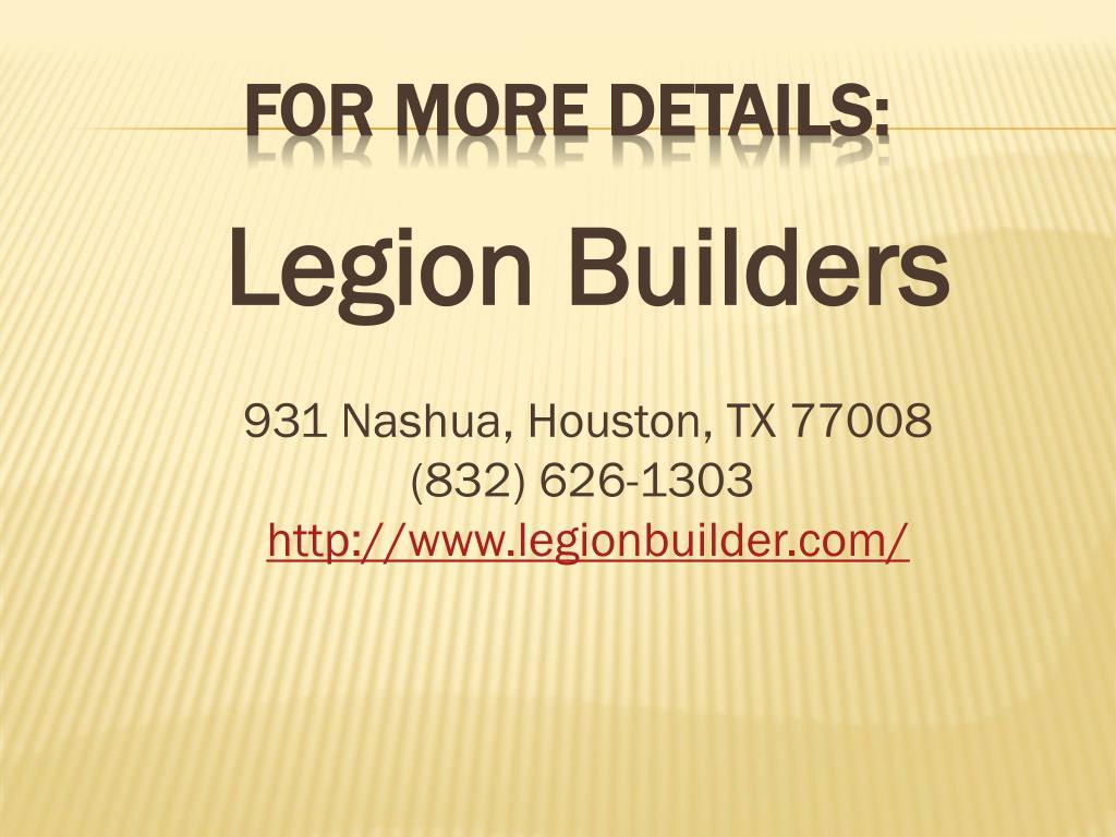 Legion Builders