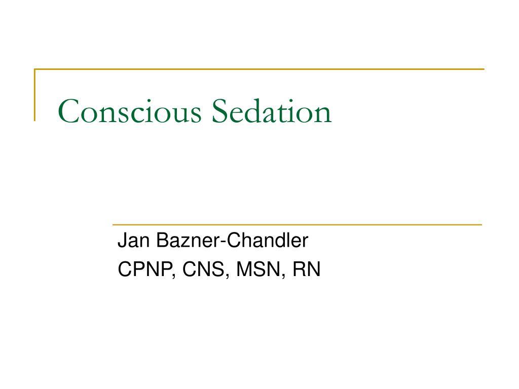 conscious sedation l.