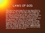 laws of god22