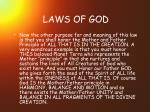 laws of god25